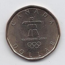 KANADA 1 DOLLAR 2010 KM # 883 UNC Vankuverio Olimpiada