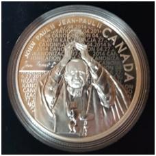 KANADA 10 DOLLARS 2014 KM # new PROOF JONAS PAULIUS II