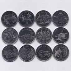 KANADA 12 X 25 CENTS 1999 UNC Tūkstantmečio rinkinys
