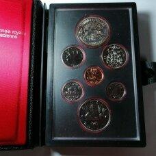 KANADA 1980 m. 7 monetų oficialus rinkinys