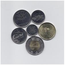 KANADA 2017 m. proginis 6 monetų komplektas