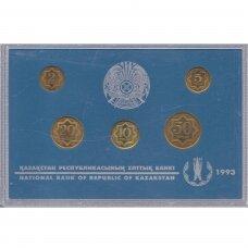 KAZACHSTANAS 1993 m. 5 monetų oficialus rinkinys