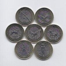 """KAZACHSTANAS 2020 m. 7 monetų rinkinys """"Stepių klajoklio turtai"""""""