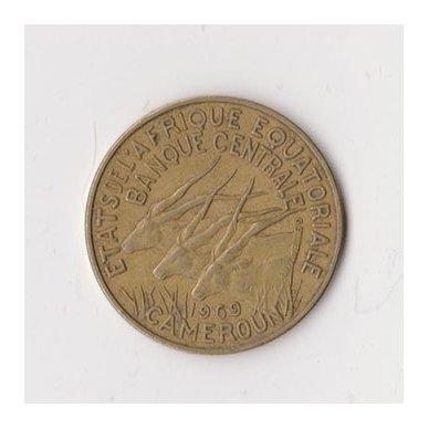 PUSIAUJO AFRIKA 10 FRANCS 1969 KM # 2a VF 2