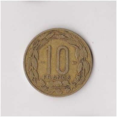 KAMERŪNAS 10 FRANCS 1958 KM # 11 VF