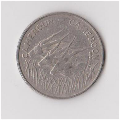 KAMERŪNAS 100 FRANCS 1975 KM # 17 VF 2