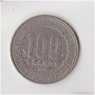 KAMERŪNAS 100 FRANCS 1975 KM # 17 VF