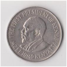 KENIJA 1 SHILLING 1975 KM # 14 XF