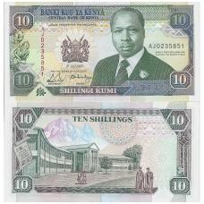 KENIJA 10 SHILLINGS 1990 P # 24b UNC