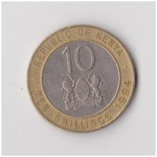KENIJA 10 SHILLINGS 1994 KM # 27 VF