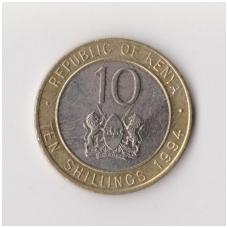 KENIJA 10 SHILLINGS 1994 KM # 27 XF