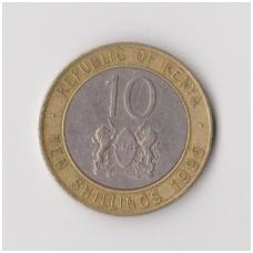 KENIJA 10 SHILLINGS 1995 KM # 27 VF