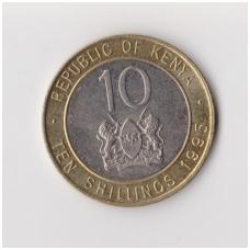 KENIJA 10 SHILLINGS 1995 KM # 27 XF