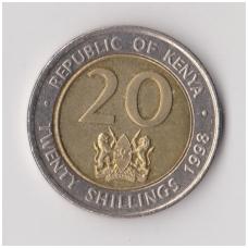 KENIJA 20 SHILLINGS 1998 KM # 32 XF