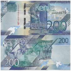 KENIJA 200 SHILLINGS 2019 P # new UNC