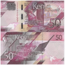 KENIJA 50 SHILLINGS 2019 P # new UNC