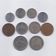 KIPRAS 1955 - 1982 m. 10 monetų rinkinukas