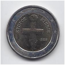 KIPRAS 2 EURO 2008 KM # 85 UNC