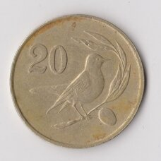 KIPRAS 20 CENTS 1983 KM # 57.1 VF