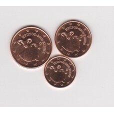 KIPRAS 2015 m. mini euro centų komplektukas ( 1,2,5 euro centai)