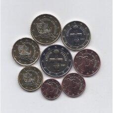 KIPRAS 2021 m. pilnas euro monetų rinkinys