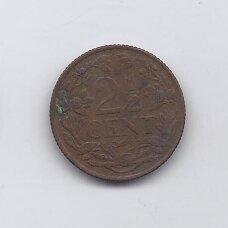 KIURASAO 2 1/2 CENTS 1948 KM # 42 VF