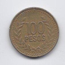 KOLUMBIJA 100 PESOS 1995 KM # 285 VF