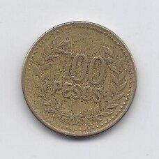 KOLUMBIJA 100 PESOS 2010 KM # 285 VF