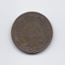 KOLUMBIJA 100 PESOS 2012 KM # 296 VF