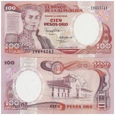 KOLUMBIJA 100 PESOS ORO 1988 P # 426c UNC