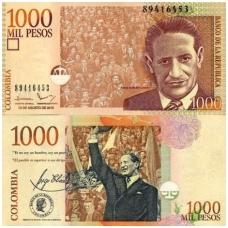 KOLUMBIJA 1000 PESOS 2015 P # 456 UNC