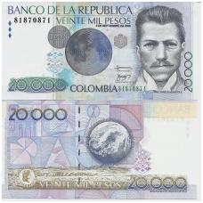 KOLUMBIJA 20 000 PESOS 2008 P # 454q UNC