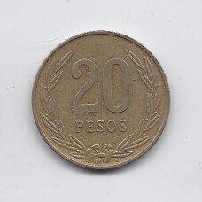 KOLUMBIJA 20 PESOS 1985 KM # 271 VF