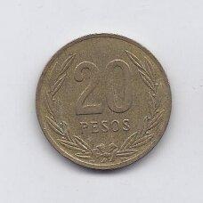 KOLUMBIJA 20 PESOS 1987 KM # 271 VF