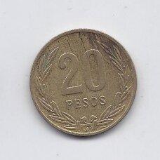 KOLUMBIJA 20 PESOS 1988 KM # 271 VF
