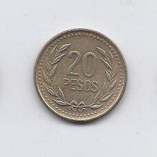 KOLUMBIJA 20 PESOS 1994 KM # 282 VF
