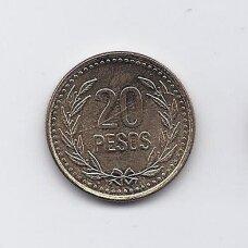 KOLUMBIJA 20 PESOS 2003 KM # 282 XF/AU