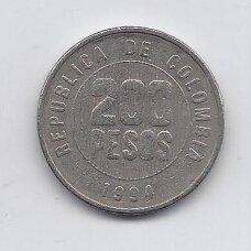 KOLUMBIJA 200 PESOS 1994 KM # 287 VF