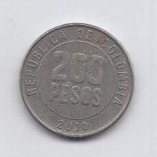 KOLUMBIJA 200 PESOS 2010 KM # 287 VF