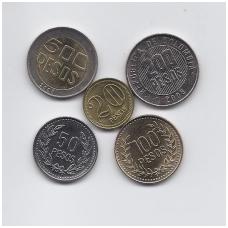 KOLUMBIJA 2004 - 2008 m. 5 monetų rinkinukas