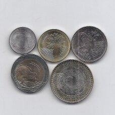 KOLUMBIJA 2016 - 2018 m.  5 monetų rinkinukas