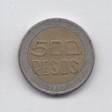 KOLUMBIJA 500 PESOS 1993 KM # 286 VF