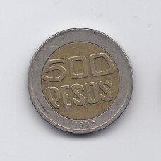 KOLUMBIJA 500 PESOS 1995 KM # 286 VF