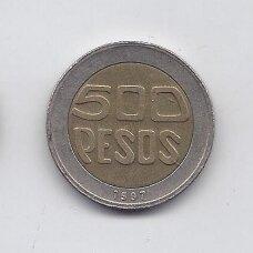 KOLUMBIJA 500 PESOS 1997 KM # 286 VF