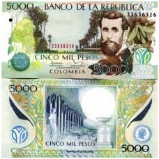 KOLUMBIJA 5000 PESOS 2013 P # 452p UNC