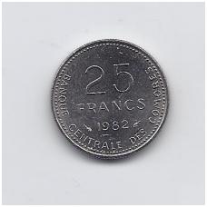 KOMORAI 25 FRANCS 1982 KM # 14 AU FAO