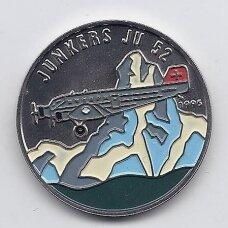 KONGAS 100 FRANCS 1995 KM # 21 UNC Junkers JU-52