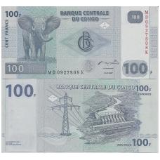 KONGAS 100 FRANCS 2007 P # 98 UNC