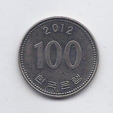 KORĖJA ( PIETŲ ) 100 WON 2012 KM # 35.2 VF/XF