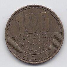 KOSTA RIKA 100 COLONES 2006 KM # 240a VF